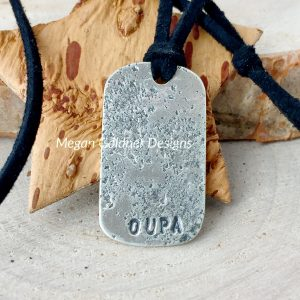 Sterling Silver Keepsake Imprint Tag
